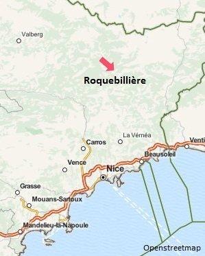 Carte de la station thermale de Roquebillière - Berthemont les Bains