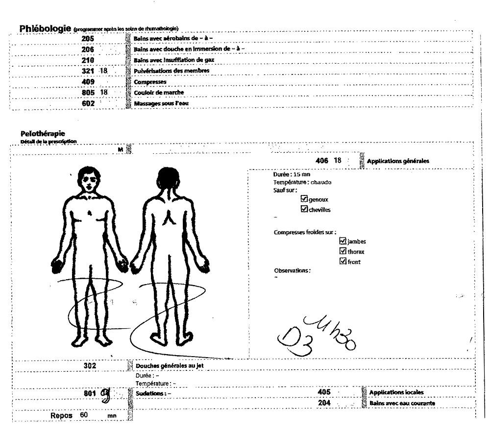 prescription du médecin thermal pour une cure en double orientation
