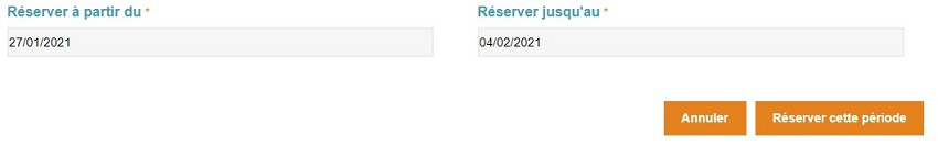 Modification des dates