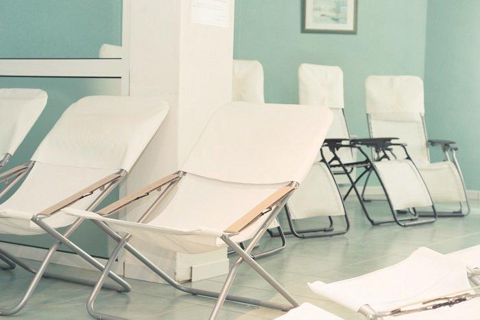 Salle de repos du centre thermal Bérot à Dax