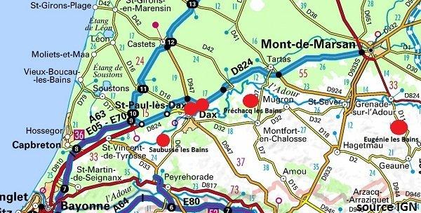 Location cure landes 40 location de vacances dans les for Piscine st paul les dax