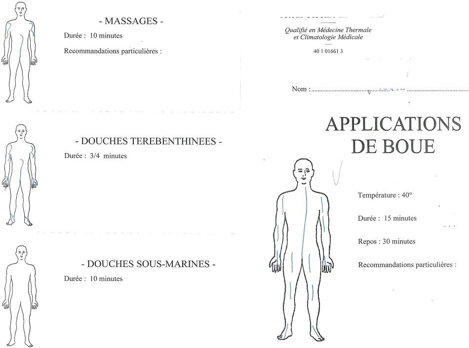 ordonnance médecin thermal cure thermal rhumatologie